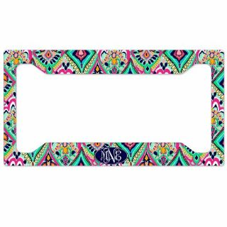 Purchase Personalized Monogrammed License Plate Frame Rear Pretty Floral Jewels Monogram motorcycle in Jacksonville, Florida, United States, for US $16.50