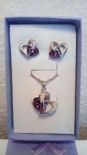 925 silver necklace / earring set