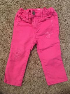 Baby gap pink jeans size 12 to 18 months