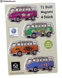 Volkswagen Custom Design Bus Magnet Set of 4