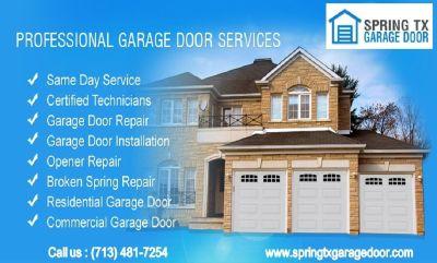 Affordable Garage Door Repair only $25.95 - Spring, Houston