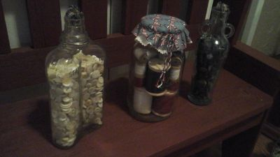 Decorative Mason & Bottle Americana /Primitive Theme Decor