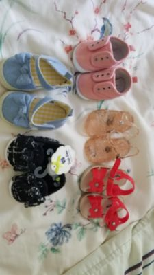 Baby girl 3 to 6+ shoes.