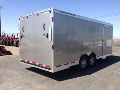 20ft Aluminum Race Car Hauler,  Aluminum Cargo Trailer, Featherlite Enclosed Car Hauler 4926-0020