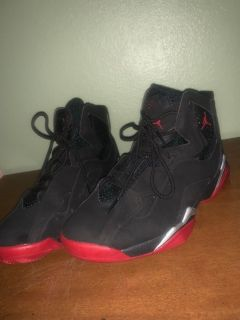 Black and red jordans