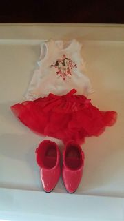 American Girl doll Western outfit. Shirt, Skirt & Cowgirl Boots included. Exc cond.