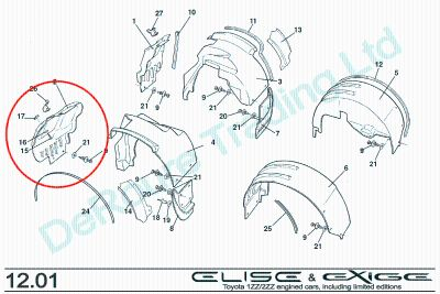 WTB: Front drivers (LH) wheel arch liner - the small piece