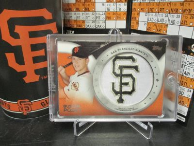 SAN FRANCISCO GIANTS BUSTER POSEY LOGO PATCH DISPLAY!
