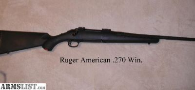 For Sale: Ruger American .270 Win.