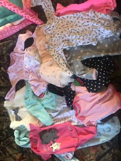 Lot of newborn girl clothes