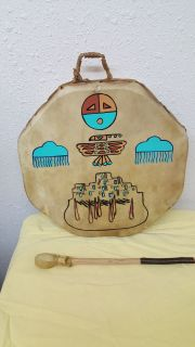 Native American Hand Drum and Beater
