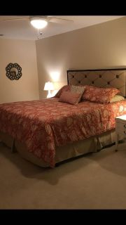 King bedding set and headboard (wall decor) sold separately
