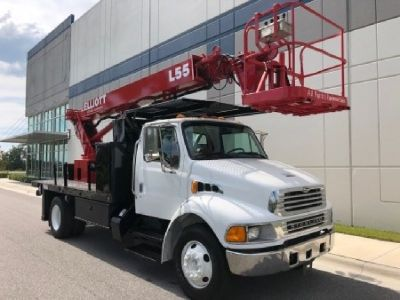 Sign Crane Truck for Sale-Elliott L55R Mounted on a 2003 Sterling Acterra Chassis