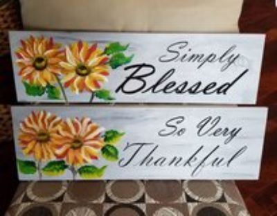 Hand Carved and Painted Wall Sign
