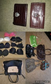 High End Purses and wallets to with and Victoria secret bras