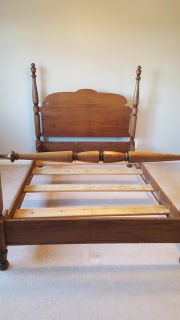 Antique four - poster full size bed