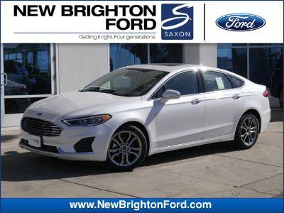 2019 Ford Fusion SEL (White Platinum Metallic Tri-Coat)