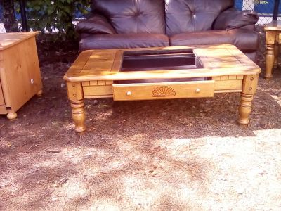 Wooden living room table.