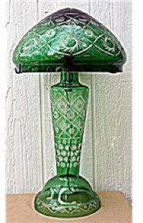$60 Green Flow Crystal Mushroom Lamp L-0002
