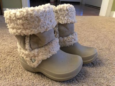 Croc Boots, Size 12/13 (fit more like 13/1), really good used condition, $8. Discount for porch pick up.