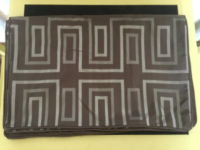 New/Never Used Standard Pillow Shams-Silver/Brown
