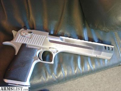 """For Sale: Magnum Research Desert Eagle,all solid stainless with built in compensator,6"""" 50 cal"""