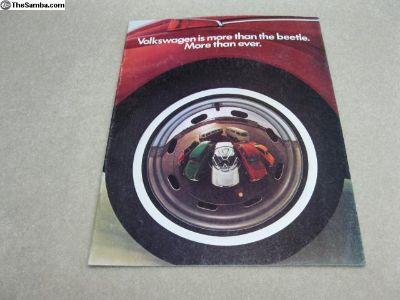 1972 full-line Volkswagen sales brochure