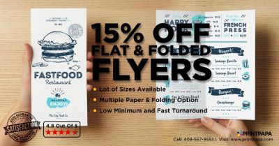 Get 15% Off on Flat and Folded Flyer Printing from PrintPapa