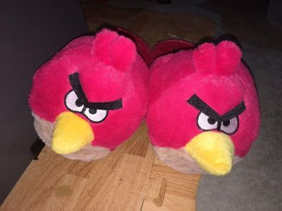Angry birds slippers.