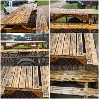 Special design Woodburn graphing custom picnic tables