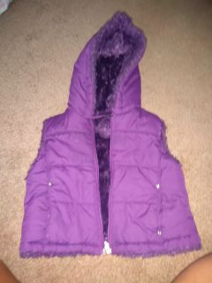 Purple vest reversible 4t