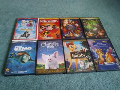 8 DVD Childrens Disney Movies