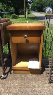 Sold Wood End Table