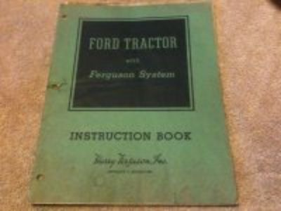 1940's Ford 9N tractor owners operators book , factory original nice!