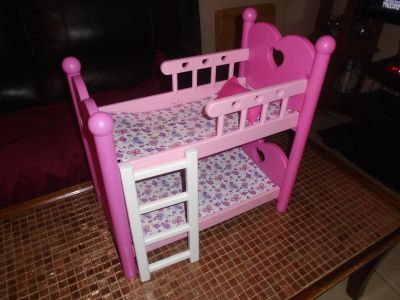 Pink doll bunkbed set, excellent and clean!