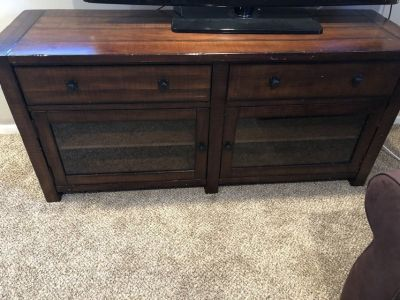 Moving sale! Pottery Barn Benchwright Large Tv stand
