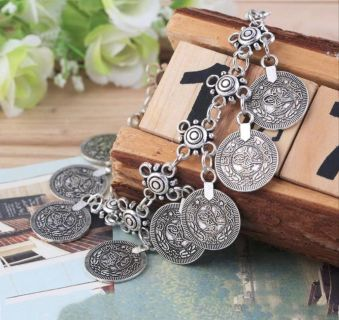 Brand New Womens Ancient Tibetan Coin Anklet