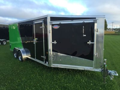 2017 US Cargo AMERALITE ADXST723TA2 (3 PLACE ENCLOSED SNOWMOBILE TRAILER) Trail/Touring Trailers Kaukauna, WI