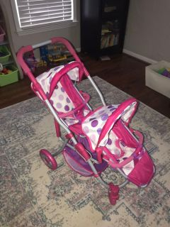 Double stroller for babydolls