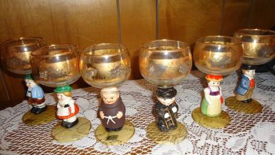 German Roemer Wineglass Set (6)