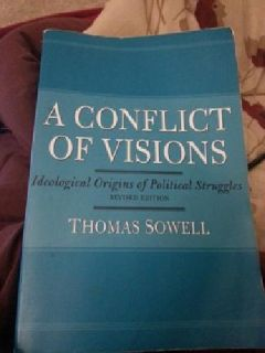 "$6 Book; ""A Conflict of Visions"" Thomas Sowell"