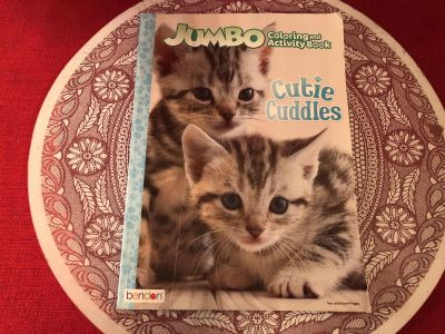 Jumbo Coloring & Activity Cutie Cuddles One Page Colored. Paperback