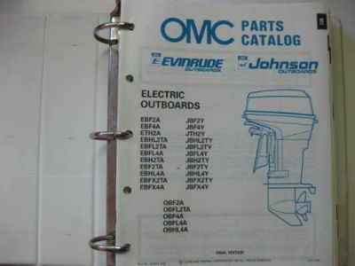 Find 1989 OMC JOHNSON EVINRUDE PARTS CATALOG ELECTRIC TO 300HP OUTBOARD MOTORS motorcycle in Walnut Creek, California, United States, for US $3.99