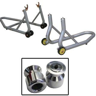 Buy Aluminum Silver Front & Rear Stands Aluminum Slider Spools Honda CBR600RR 03-07 motorcycle in Ashton, Illinois, US, for US $159.89