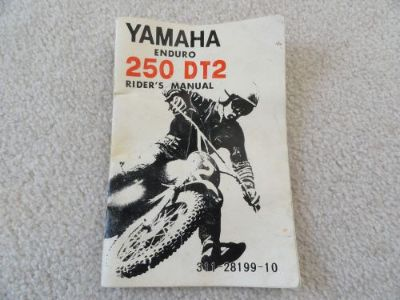 Find Yamaha 250 DT2 Enduro Owners Manual motorcycle in Logan, Utah, United States, for US $79.95
