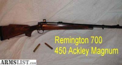 For Sale: Remington 700, 450 Ackley Magnum
