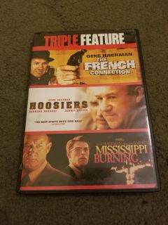 Triple Feature DVD: The French Connection, Hoosiers, Mississippi Burning