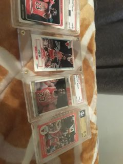 Old graded Michael Jordan cards. psa