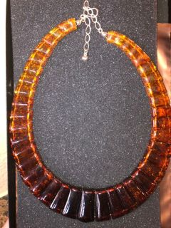 Amber Looking Necklace
