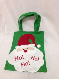 """Felt Christmas Bag. Bag is 8 x 10"""" with 6"""" handle. Pick up at Target in McCalla on Thursdays 5:15 to 6:00pm."""